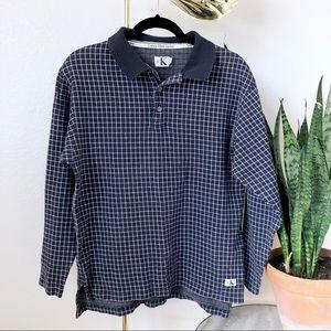 VTG Calvin Klein Checkered Pullover Long Sleeve